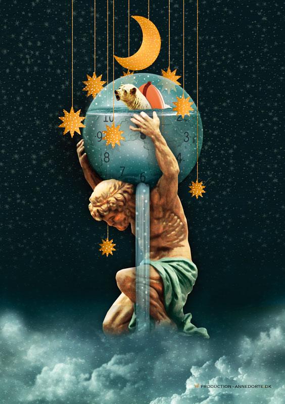 Plakat & Anledningskort Dommedagsuret - Doomsdays Clock.