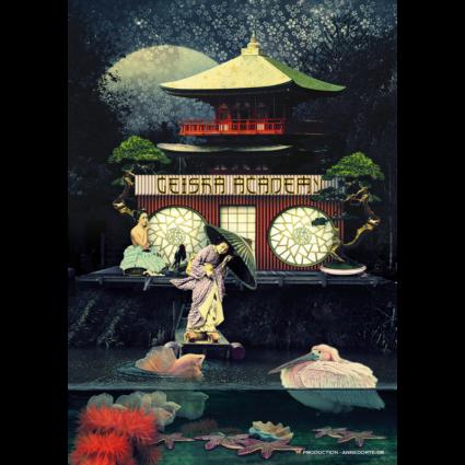 Plakat fra sydhavnen 2450 København. The Geisha Academy