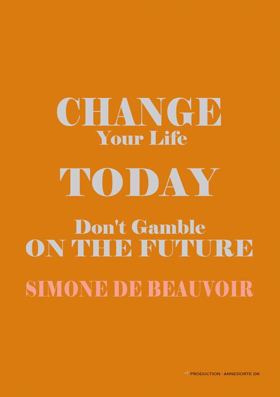 Plakat citat simone de beauvoir