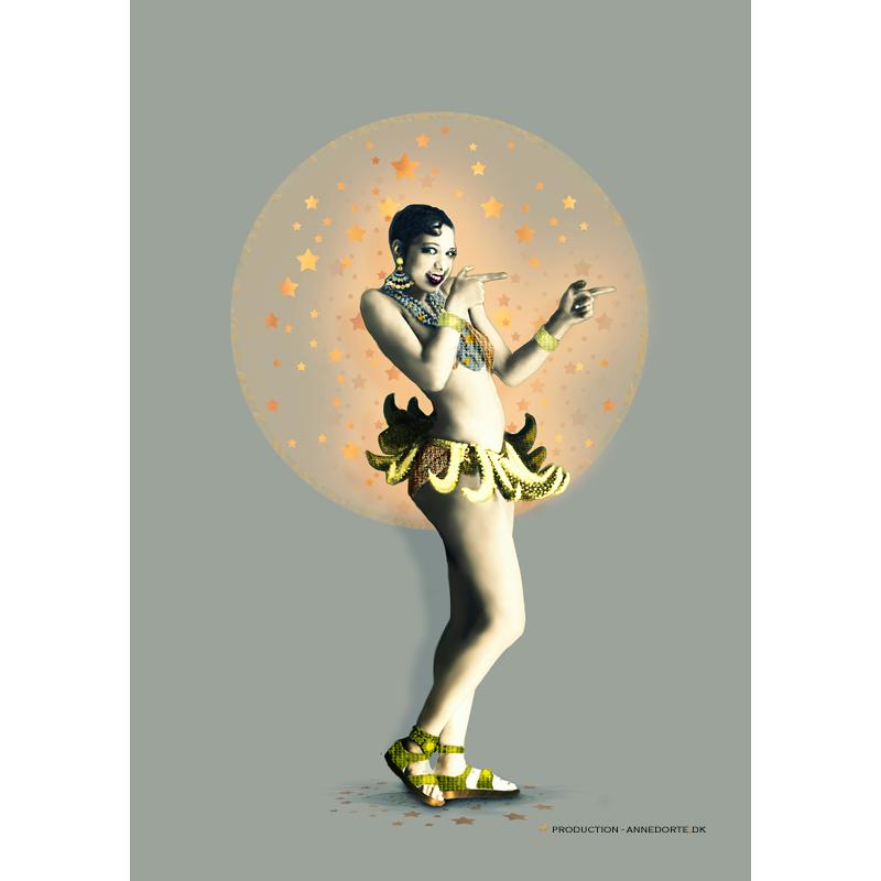 Plakat Josephine Baker med bananskørt.