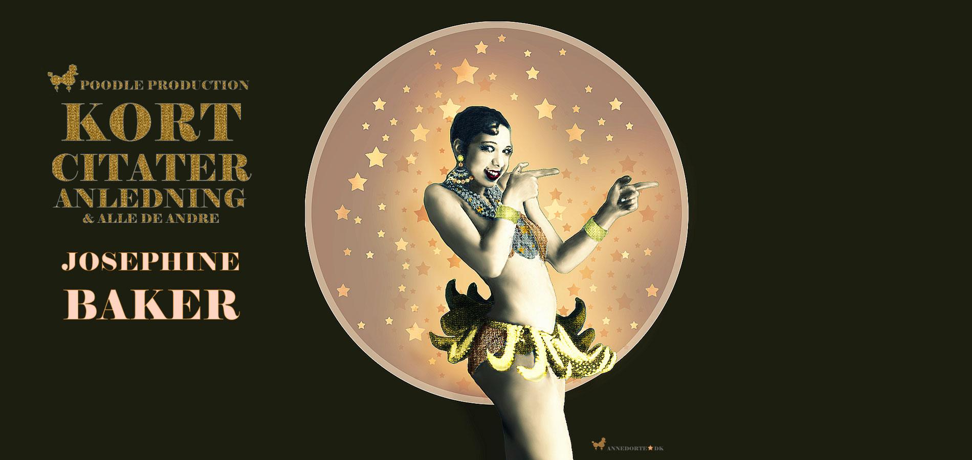 Plakat & Anledningskort Josephine Baker i Bananskørt