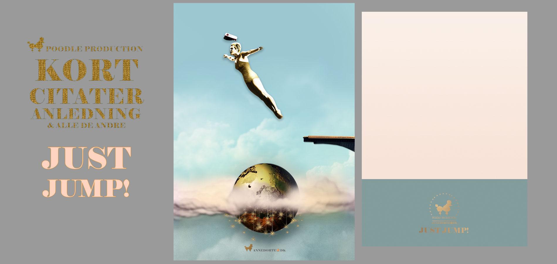 Plakat & Anledningskort Student - Just Jump!